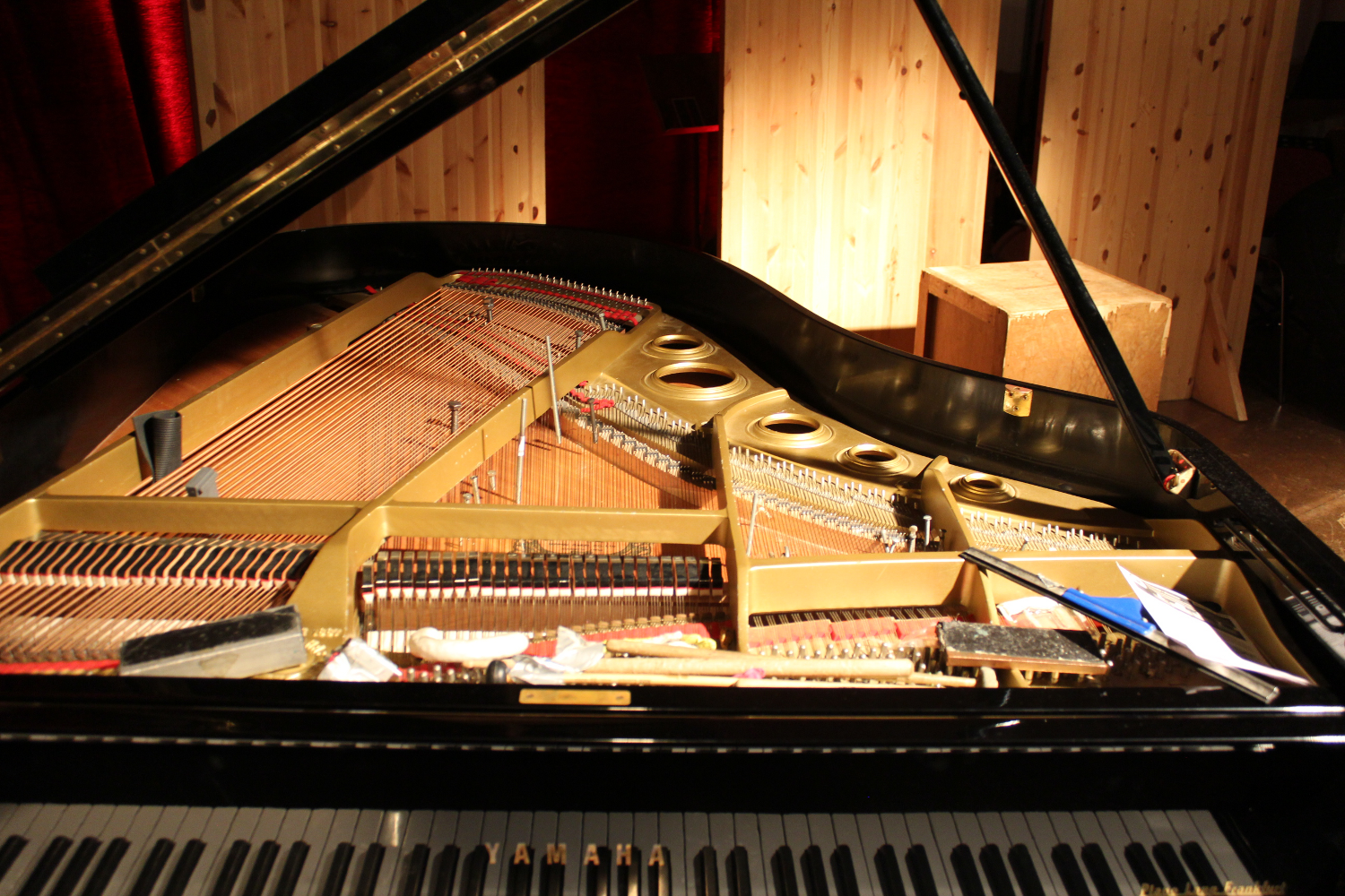 Prepared piano of Phillip Zoubek by Freimut Bahlo. *